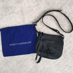 Rebecca Minkoff Leather Dog Clip Saddle Bag